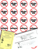 Pilot Reminder Stickers: Do Not Use - Inoperative Set